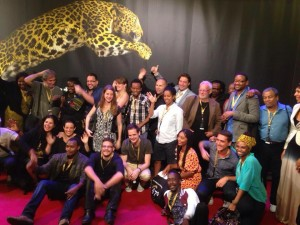 Participantes ao programa Open Doors no Red Carpet do Festival de Cinema de Locarno
